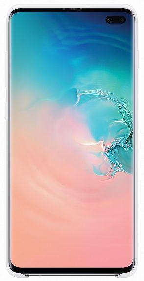 Samsung Silicone Cover Galaxy S10 plus, bílý EF-PG975TWEGWW