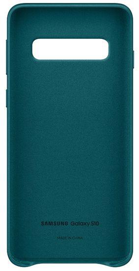 SAMSUNG Ochranný kryt Leather Cover pro Galaxy S10 EF-VG973LGEGWW - zelený - rozbalené