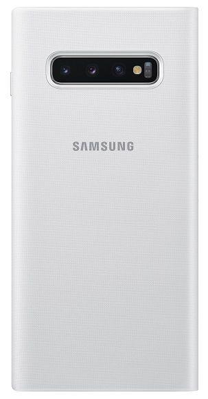 Samsung Flipové pouzdro LED View Cover pro Galaxy S10 plus, bílé EF-NG975PWEGWW - rozbaleno