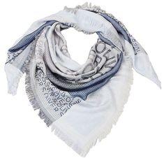 s.Oliver dámský modrý šátek