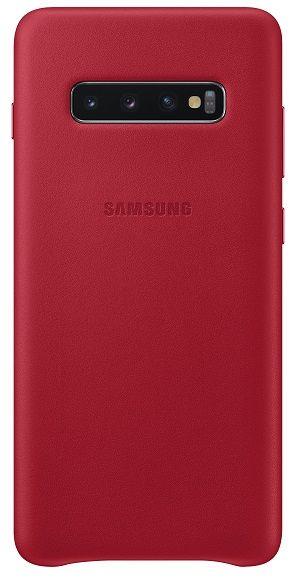 Samsung Ochranný kryt Leather Cover pro Galaxy S10 plus, červený EF-VG975LREGWW