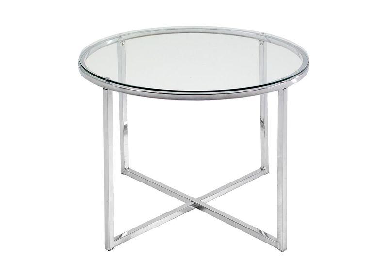 Design Scandinavia Konferenční stolek Claire kulatý, čirá