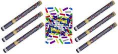 Konfety 60cm  metalické barevné mix 6 ks