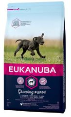 Eukanuba suha hrana za štence Puppy & Junior Large Breed 15 kg + 3 kg gratis