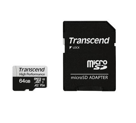 Transcend spominska kartica SDXC Micro 64GB 330S, 100/80MB/s