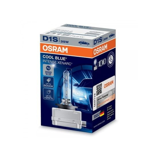 Osram OSRAM Xenonová výbojka D1S, Xenarc Cool Blue Intense, 35W, PK32d-2, 66140 CBI