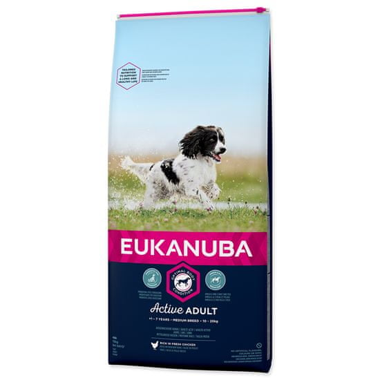 Eukanuba hrana za odrasle pse srednje velikih pasem, 15 kg