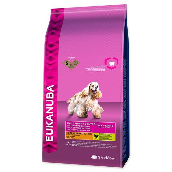 Eukanuba sucha karma dla psa Adult Medium Breed Weight Control - 3kg