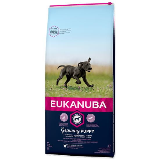 Eukanuba Puppy & Junior Large kutyatáp - 15kg