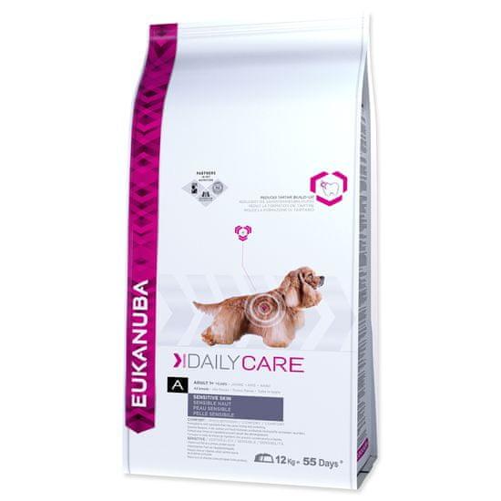 Eukanuba hrana za pse z občutljivo kožo Daily Care Sensitive,12 kg