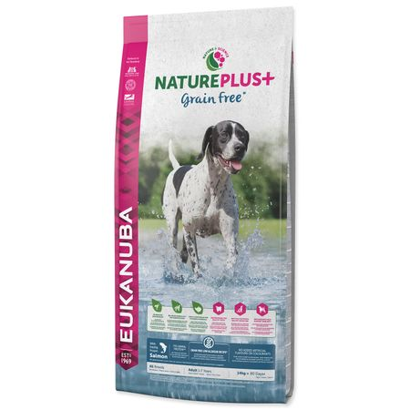 Eukanuba sucha karma dla psa Nature Plus+ Adult Grain Free Salmon 14kg