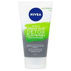 Nivea Detoxikační jílový čisticí krém 3v1 Urban Skin (Detox Clay Wash) 150 ml