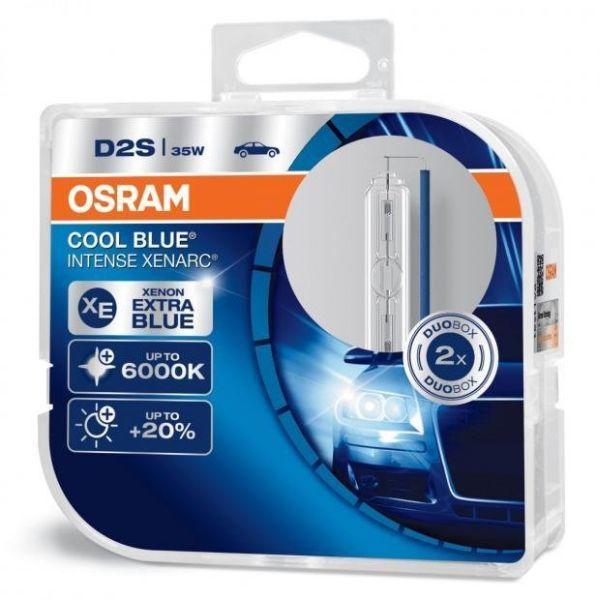 Osram Xenonová výbojka D2S, Xenarc Cool Blue Intense, 35W, P32d-2, 2 kusy