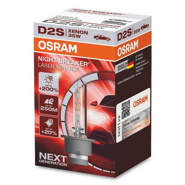 Osram Xenonová výbojka D2S, Xenarc Night Breaker Laser, 35W, P32d-2
