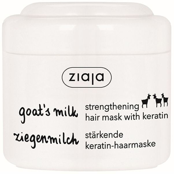 Ziaja Maska na suché a matné vlasy s keratinem Goat`s Milk 200 ml