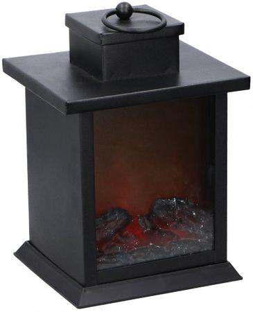 TimeLife Latarnia z imitacją płomienia kominkowego 23cm