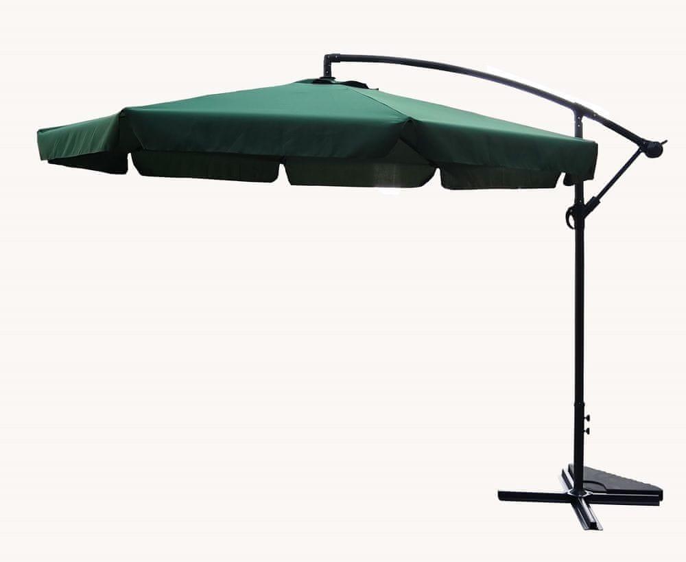 Rojaplast Slunečník 300cm EXCLUSIVE NEPROMOKAVÝ zelený - zánovní