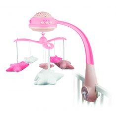 Canpol babies glasbeni vrtiljak s projektorjem Zvezde, roza