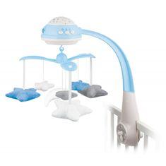 Canpol babies Plüss körhinta Csillagprojektorral kék