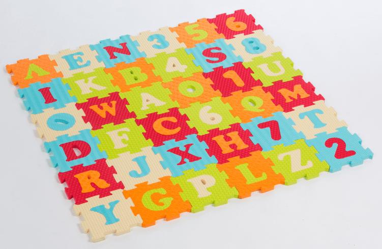 Ludi Puzzle pěnové 90x90 cm písmena a čísla