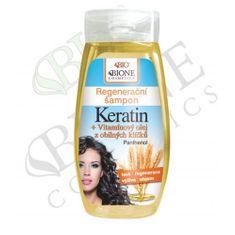 Bione Cosmetics Regenerační šampon Keratin + Vitamínový olej z obilných klíčků 260 ml