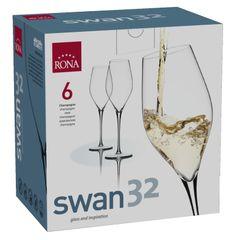 Rona Select Sklenice SWAN bílé víno 320 ml 6 ks