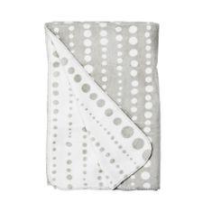 Butlers MACIO Flanelová deka puntíky - šedá/bílá