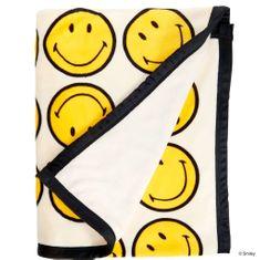 Butlers SMILEY Flanelová deka se smajlíkem