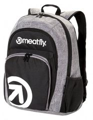 MEATFLY Batoh Vault 2 Backpack A - Black, Heather Grey