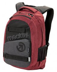MEATFLY Batoh Exile 3 Backpack G - Burgundy, Black