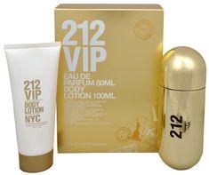 Carolina Herrera 212 VIP - parfémová voda s rozprašovačem 80 ml + tělové mléko 100 ml