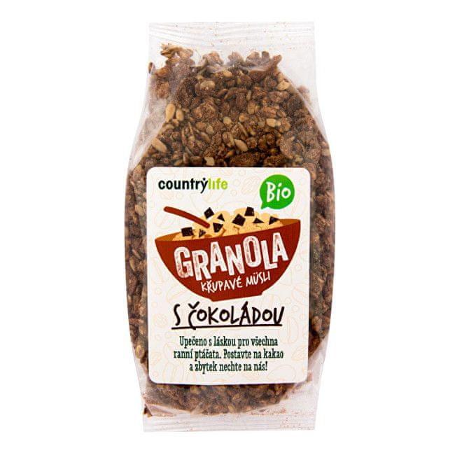 Country Life Granola - Křupavé müsli s čokoládou BIO 350 g