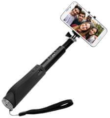 FIXED Teleskopický selfie stick v luxusnom hliníkovom prevedení s BT spúšťou, čierny FIXSS-BT-BK