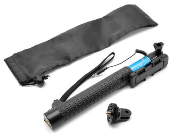 FIXED Teleskopický selfie stick v luxusním hliníkovém provedení, 3,5 mm jack, modrý FIXSS-W-BL