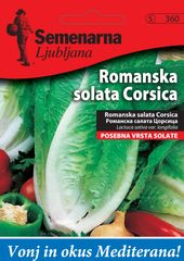 Semenarna Ljubljana romanska solata Corsica, 360 Mediteran, mala vrečka