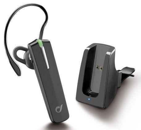 CellularLine Headset Bluetooth Car Pro, BT v3.0, včetně držáku do auta BTCARPRO