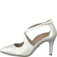Tamaris Dámske lodičky 1-1-24402-22-101 White Pearl 8dabc30627