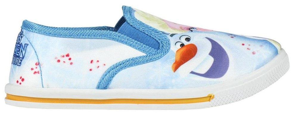Disney dívčí slip on tenisky Frozen 22 modrá