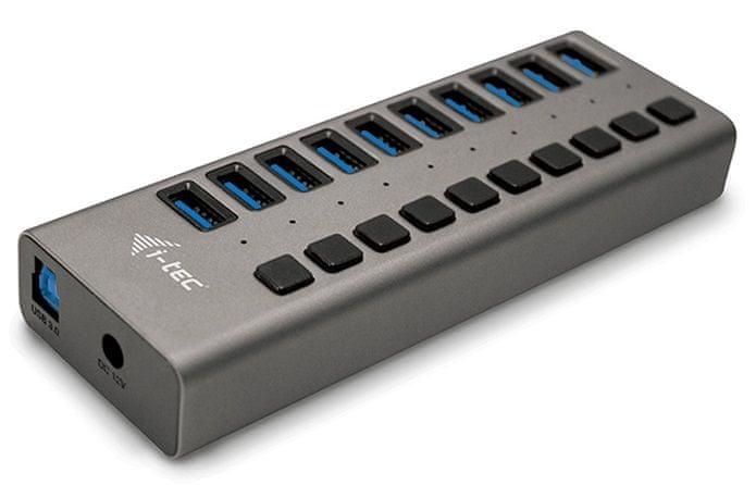I-TEC USB 3.0 Charging HUB 10 port s napájecím adaptérem 48 W U3CHARGEHUB10