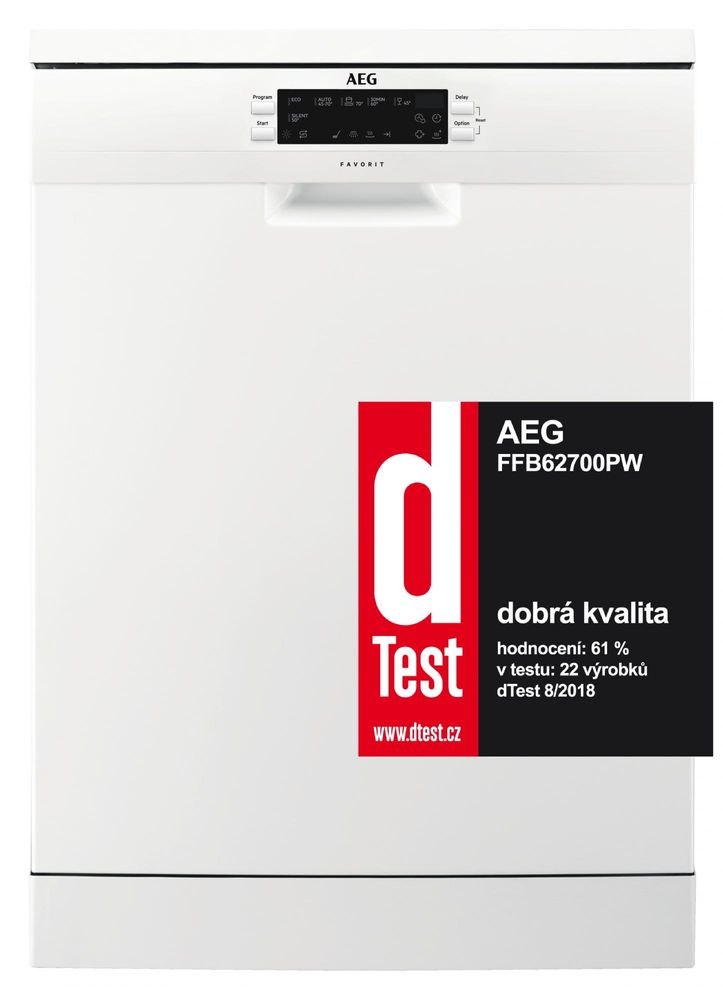 AEG myčka nádobí Mastery FFB62700PW + 10 let záruka na motor - rozbaleno