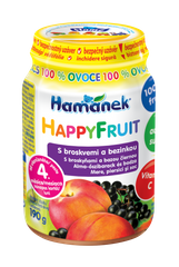Hamánek HAPPYFRUIT 100% ovoce s broskvemi a bezinkou 6x190g