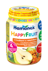 Hamánek HAPPYFRUIT  100% ovoce s hruškami a rakytníkem 6x190g