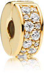 Pandora Luxus aranybevonatú klip 767164CZ kövekkel ezüst 925/1000