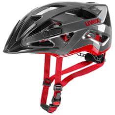Uvex Active kolesarska čelada, Antracite/Red, 52-57 cm