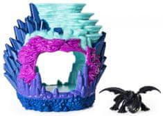 Spin Master Smoki 3 lśniąca jaskinia smoka z figurką -Toothless