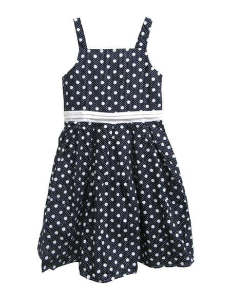 Blue Seven dívčí puntíkované šaty 164 černá