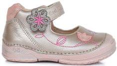 D-D-step dívčí kožené sandály s kytičkou
