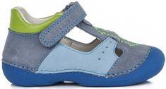 D-D-step chlapecké kožené sandály
