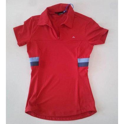 Lindeberg Amandine Jersey Polo Červená L