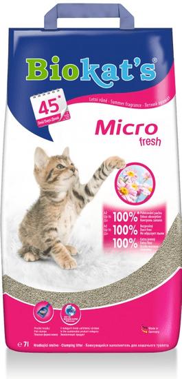 Biokat's Micro Fresh pijesak za mačji zahod, 14 l